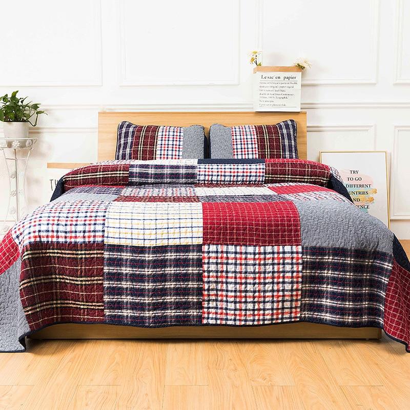 Fabricants vente directe nouveau Style coton à la main Joint trois pièces ensemble 100% coton drap de lit housse de couette literie trois-pie