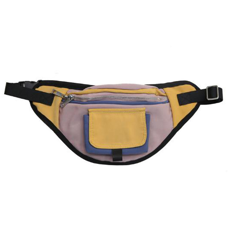 Unisex Pockets Stitching Waterproof Pockets Chest Bag Travel Cashier Belt Hip Hop Rock Men And Women Bag
