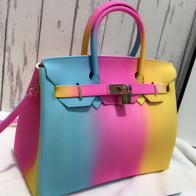 Womens Match Colors Message Bag Handbag Shoulder Strap Bags Fashion Tote Clutch Satchel Handbags Lock Decor 6Colors