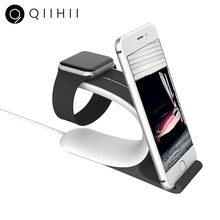 цены QIIHII Desktop Mobile Phone Holder For iPhone Apple Watch Stand Cell Phone Holder Stand Smartphone Holder For Samsung Huawei