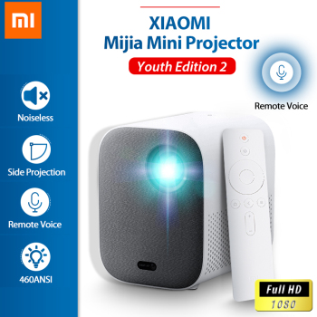 XIAOMI Mijia proiettore TV 1080P Full HD Android Youth Edition2 DLP LED Bluetooth Mini IOT voce remota proiezione laterale silenziosa