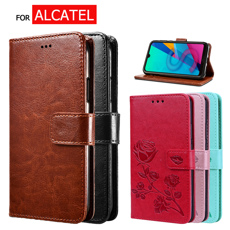 Flip Case For Alcatel 1S 2020 Wallet Cover Capas For Alcatel 1S 5024D Phone Protector Stand PU Leather Case Capas(China)