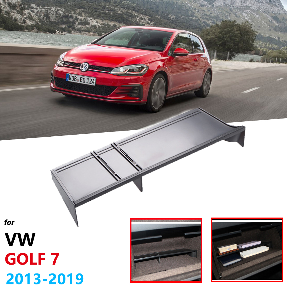 for Volkswagen VW Golf 7 MK7 2013 2019 2014 Car Co-pilot Glove Box Storage Accessories Internal Sorting Partition Car Styling