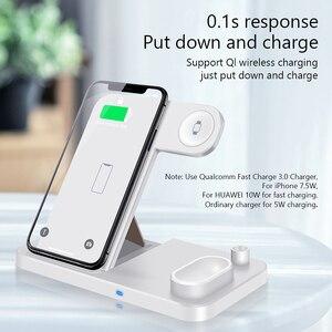 Image 4 - EKSPRAD chargeur sans fil 4 en 1 10W support de charge rapide pour iPhone 11 Pro XR X Xs Max pour Apple Watch 6 5 4 3 Airpods Pro crayon
