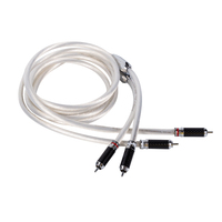 High end France AUDIOMECA Single Crystal Silver audio cable HIFI Double RCA Signal Line rca cable