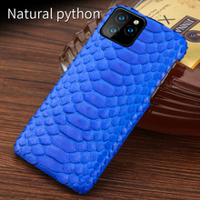 Genuine Leather case For Iphone 11 pro max Original Python leather back cover iphone xr xs 7 8 coque fundas