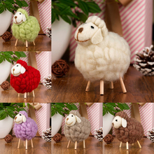 Christmas Tree Hanging Ornament Felt Sheep Miniature Party Cabinet Accessories New