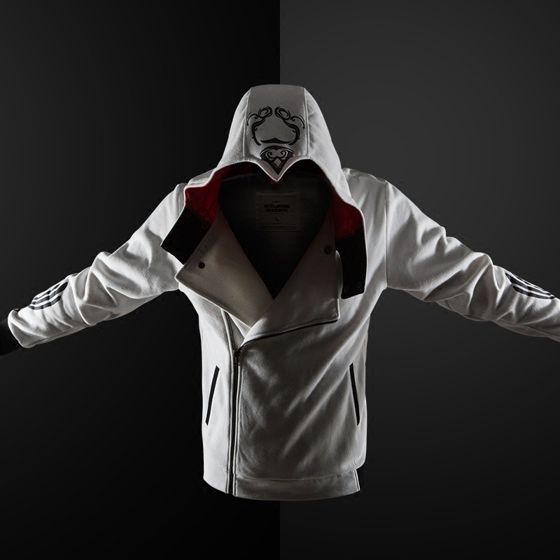 Assassin Hoodies Zipper Streetwear Fashion Print Hoodie Hip Hop Assassin Hoodie Boy Sweatshirt Coats 5 Colors Tracksuit  Hoody