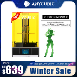 ANYCUBIC Photon Mono X 3D Printer 4K 8.9 Inch LCD UV Resin Printers 192*120*250mm High Speed 3D Printing APP Remote Control