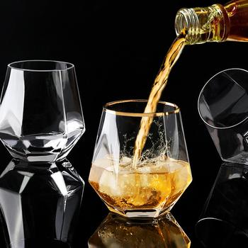 Diamentowe sześciokątne przezroczyste szkło whisky koktajl kufel do piwa gruba podstawa domowa woda szklana filiżanka do kawy herbata mleczna tanie i dobre opinie CN (pochodzenie) ROUND Ce ue Koktajl szkła Ekologiczne Zaopatrzony