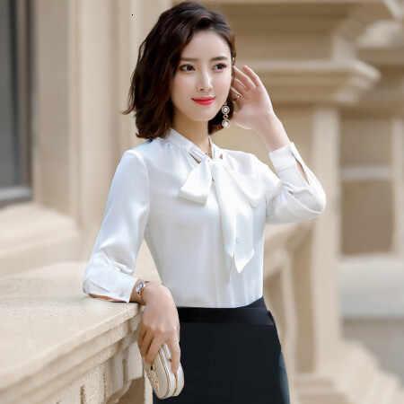 自己修養薄型ホワイトカラーインタビュー正しいドレスシャツ女性グリーンシャツシングル紙ブラウスレディーストップスとブラウス