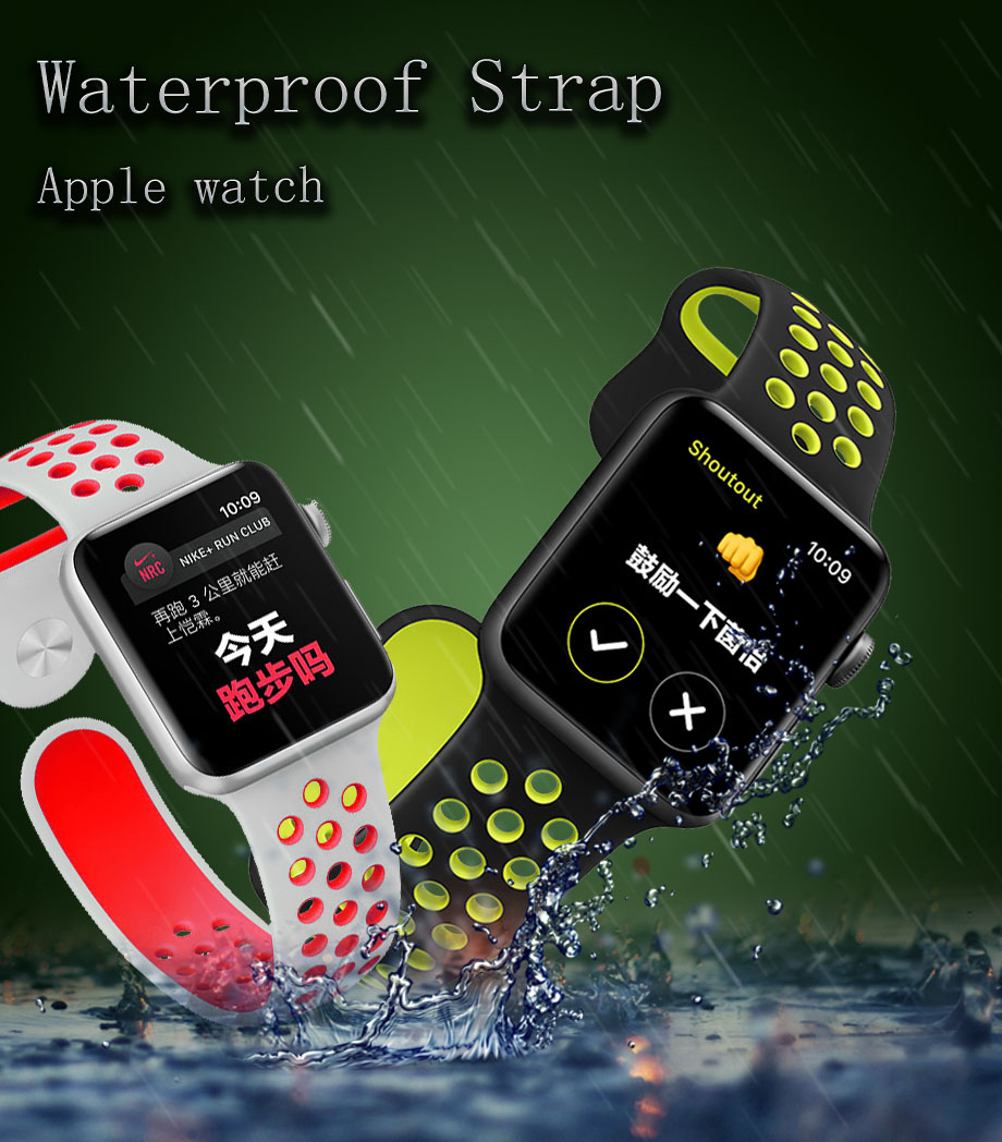Banda de silicona para apple watch correa 42mm 38mm reemplazar - Accesorios para relojes - foto 2