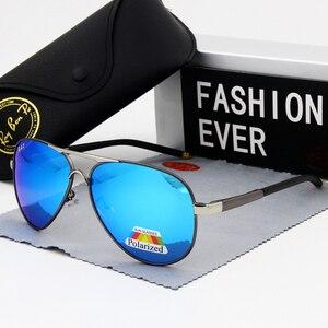 Image 3 - אופנה סגלגל מקוטב משקפי שמש גברים מותג מעצב נהיגה זכר הטוב ביותר שמש משקפיים שחור מסגרת משקפיים UV400