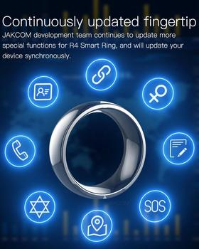 Jackcom R4 Smart Ring Wearable Device NFC Magic Ring Waterproof Health Men Women Ring Jewelry For IOS Android Phone Black Ring