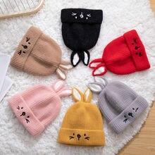 Новая зимняя теплая вязаная шапка для маленьких мальчиков и