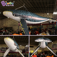 4M Length Spotted Whale Replica Inflatable Hanging Marine Creatures Decor for Ocean Theme Design