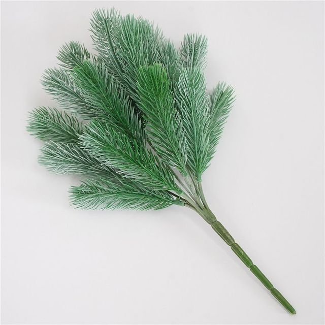 16 Fork Pine Needle Branches Artificial Pine Fake Flowers Plants Christmas Tree Wedding Decor DIY Handcraft Children Gift 4