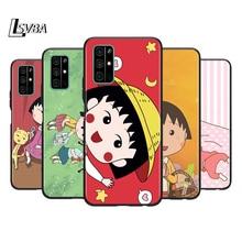 Silicone Cover Lovely Chibi Maruko Phone Case for Huawei Honor 30 20 Pro 10i 9A 9S 9X 8X 10 9 Lite 8 8A 7A 7C Pro silicone cover framed flower phone case for huawei honor 30 20 pro 10i 9a 9s 9x 8x 10 9 lite 8 8a 7a 7c pro