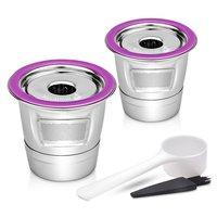 O filtro de café de aço inoxidável k cestas do copo cápsulas de café reusáveis dripper compatível com keurig 1.0 & 2.0 cervejeiros|Conjuntos de mobiliário de café| |  -