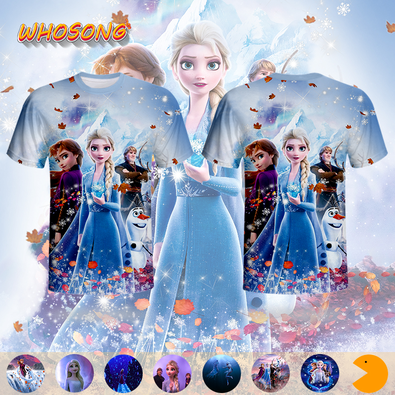 2019 Newest princess Clothes WHOSONG 3D T shirt FROZEN 2 Super popular Tops Kids Adult Unisex round collar Cartoon Funny t shirt|T-Shirts| - AliExpress