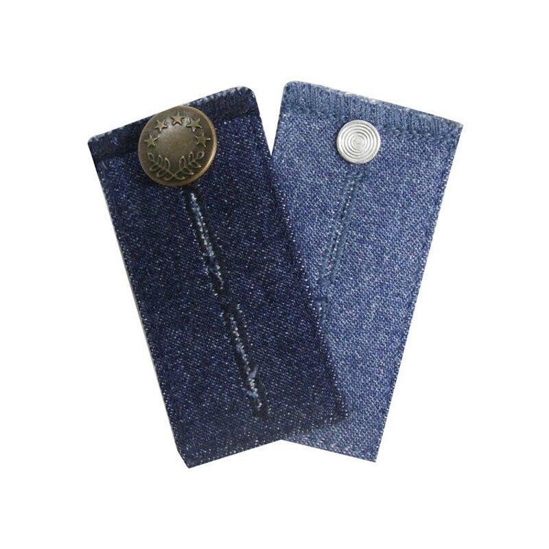 1Pc Unisex Skirt Trousers Jeans Waist Expander Waistband Extender Button Pant Elastic Extender Button Belt Extension Buckle