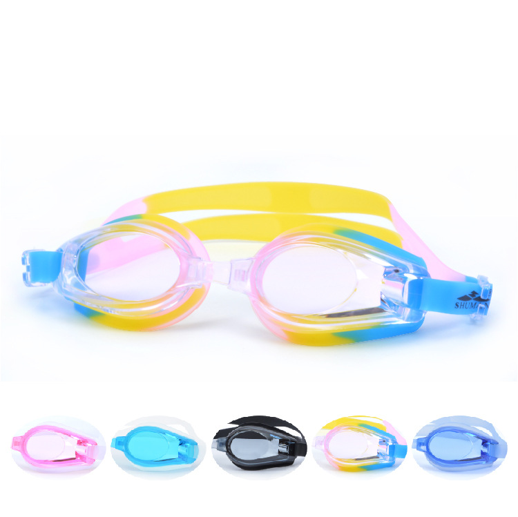 Swimming Glasses Women's Plain Glass Prescription Swimming Goggles Waterproof Anti-fog Have Alcohol By Volume Swimming Glasses F