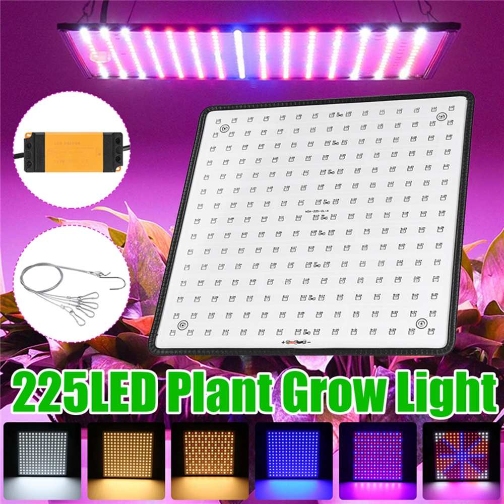 1000W LED Growth Lamp For Plants 225 Led Grow Light Full Spectrum Phyto Lamp Fitolampy Indoor Herbs Light For GreenhouseLed Grow