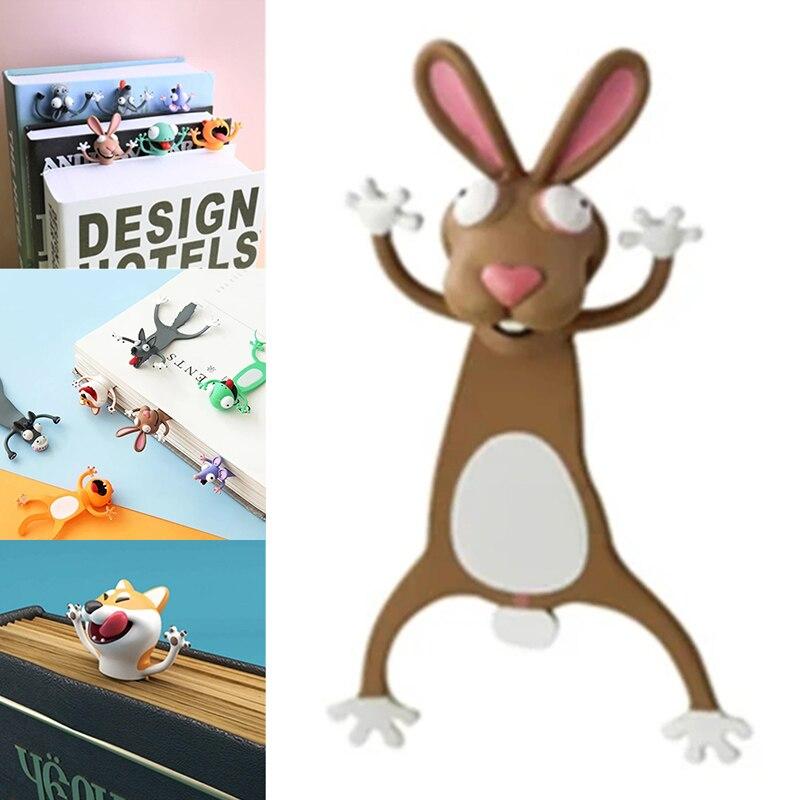 Творческий 3D стерео Закладка для книги и милые носки с рисунками зверей из мультфильмов, для маркер Kawaii Cat Закладка-панда страниц