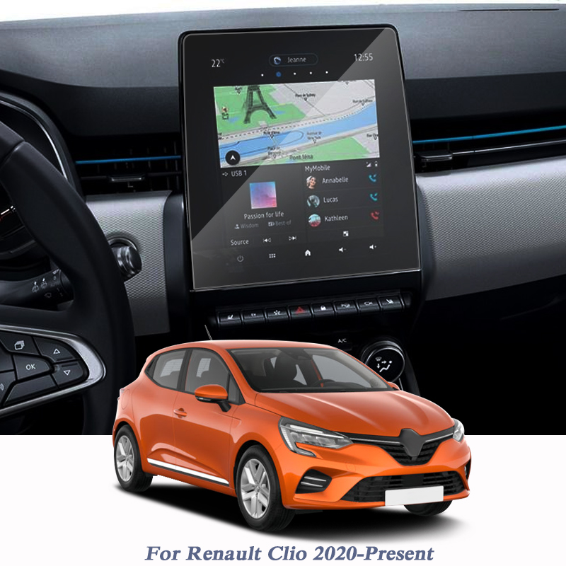 Car Styling For Renault Clio 2020-Present GPS Navigation Screen Glass Protective Film Display Film Internal Sticker Accessory