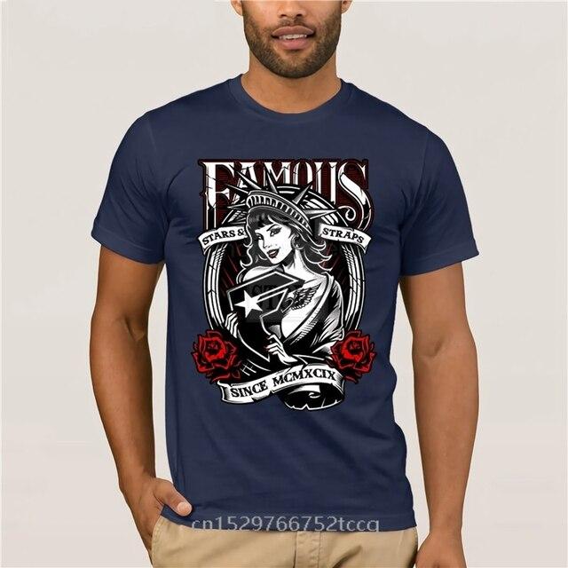 T-shirt homme col rond FSAS célèbres étoiles et bretelles Design coton imprimé col rond homme mode T-shirt hommes