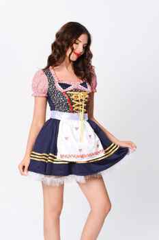 TaFIY 2020 new hot-selling Bavarian traditional beer dress dress plaid holiday party prom waiter costume