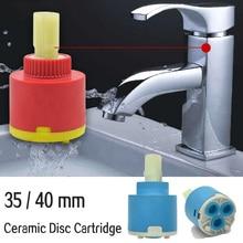35 мм 40 мм Керамический дисковый картридж смеситель кран термостатический картридж кран дисковый клапан PP пластиковые керамические картриджи для миксера