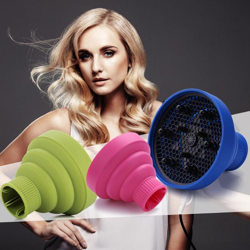 Pro Hairdryer Diffuser Cover Folding Silicone Hair Hood Blower Hair Cover Hairdressing Salon Curly Styling Hair Care Tools