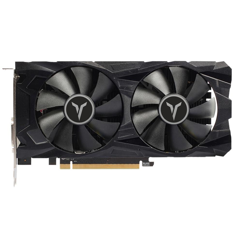 Yeston RX560D RX 560 D 4G D5 GAEA Graphic Card Dual Fan Cooling 4GB Memory GDDR5 128bit DP + HD + DVI-D GPU Enhanced Heatsink