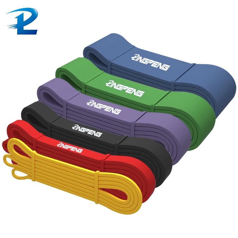 Expansor grosso dos esportes da faixa da resistência do estiramento de 208cm elástico puxe acima as faixas de powerlifting para o treinamento e o treino da resistência