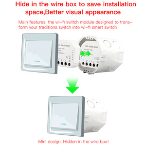 Image 3 - smart WiFi switch module turn your old switch into smart compatible with Alexa Google Assistance Voice Control for Android / IOS
