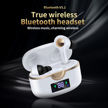 New T22 True Wireless Bluetooth Headset, Overweight Bass, Microphone Fingerprint Touch Sports Waterproof Earplug