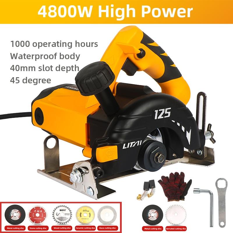 4800W coupe électrique Portable carrelage coupe Machine à bois Machine de découpe industrielle coupe Grade céramique brique pierre