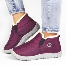 Winter Shoes Sneakers Short-Boots Plush Black Women Bottes Waterproof Femmes Casual Ultralight