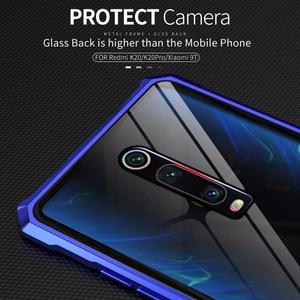 Image 3 - Xiaomi mi 9 t Pro 케이스 금속 케이스 용 금속 범퍼 커버 Xiao mi 9 t mi9 t 용 투명 유리 뒷면 커버 Luxury Shockproof