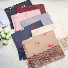 Thickening Warm Cashmere Scarf Women Scarves Winter Shawl For Ladies Tassels New Design Solid Scarves Wraps Kerchief Pashmina