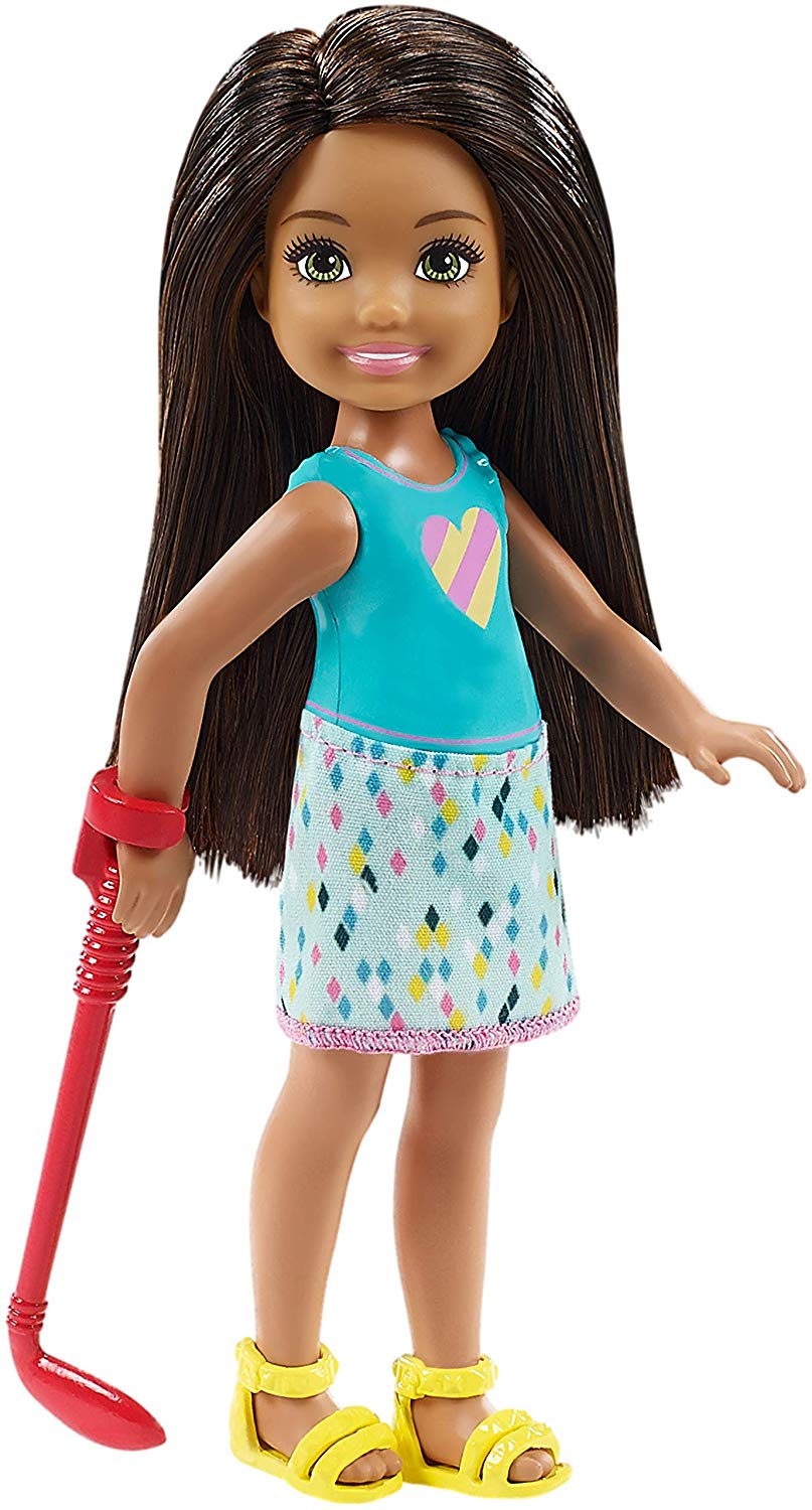 Original Barbie Club Chelsea Mini Golf Doll and Playset Toy Lovely Sport Girls Toys for Children Birthday Dolls House Bonecas in Dolls from Toys Hobbies