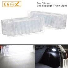 Luz LED para equipaje de coche con luces, lámpara Interior con compartimiento, 18SMD, para Citroen C2, C3, C4, C5, C6, C8, DS3, Saxo, Xantia, Xsara Picasso, 2 uds.