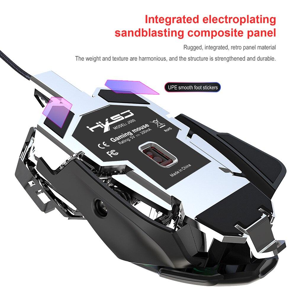 Image 4 - RGB игровая мышь 6400 DPI высокоточная Проводная USB компьютерная мышь Mause геймер 9 клавиш программируемые макросы определение игровой мыши мышьМыши    АлиЭкспресс