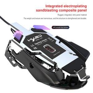 Image 4 - RGB Gaming Maus 6400 DPI Hohe Präzision Verdrahtete USB Computer Mause Maus Gamer 9 Tasten Programmierbare Makros Definieren Spiel Mäuse maus