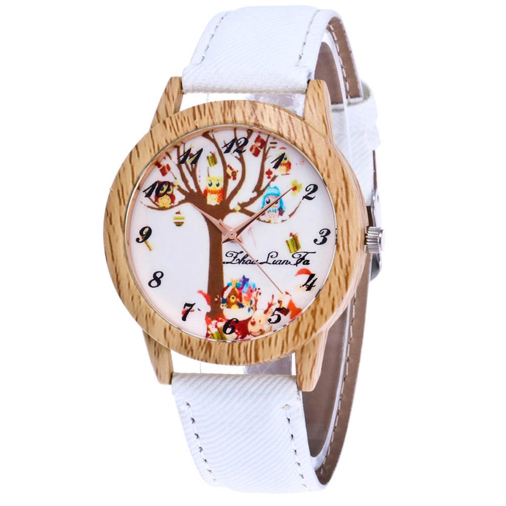 Women Watch Fashion Men Watch Top Brand Lady's Wooden Side Cowboy Belt Quartz Watch Business Lady Watch Christmas Gift Clock