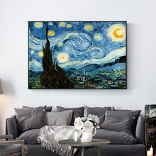 HD Modern Home Single Van Gogh's Starry Sky Painting Art Canvas Mural Decoration Spray Painting