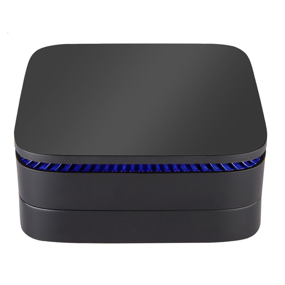 Intel AK1 WIN10 MINI PC Intel Celeron J3455 4G/32G BT4.0 USB 3.0 2.4+5.8G Wifi 4K HD 2.0 Windows10 TV Box Support 2.5inch HDD
