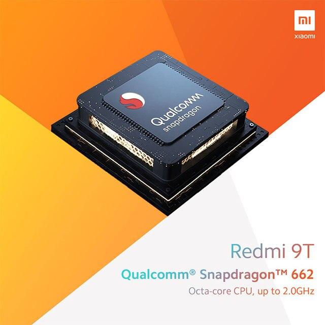 Global Version Xiaomi Redmi 9T 4GB 64GB /4GB 128GB / 6GB 128GB smartphone Snapdragon 662 48MP Rear Camera 6000mAh Non NFC 3