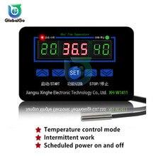 XH-W1411 ЖК-дисплей Дисплей цифровой термостат Многофункциональный Температура контроллер Сенсор переключатель-55~ 120 градусов AC110-220V AC/DC 12V